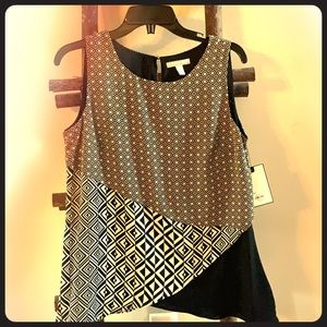 Sleeveless Patterned Shirt